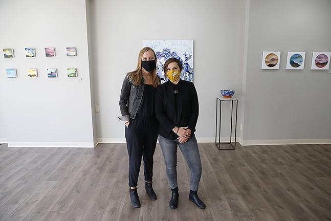 Katie and Rachel Saul Rearick, owners KURATEDpgh - CP PHOTO: JARED WICKERHAM