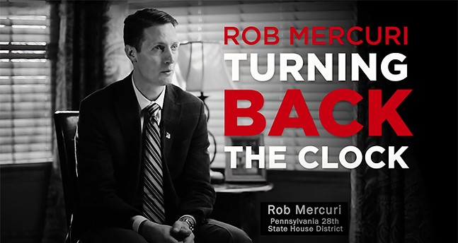 Screenshot of a television ad attacking candidate Rob Mercuri (R-Pine) for his support of discrimination against gay people. - SCREENSHOT TAKEN FROM YOUTUBE