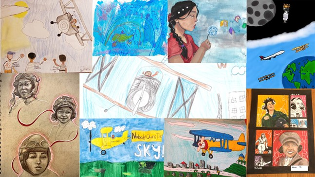 Student art exhibit at the Pittsburgh International Airport - PITTSBURGH INTERNATIONAL AIRPORT