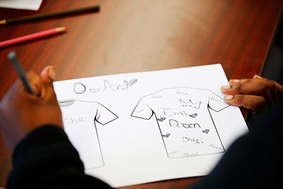 A T-shirt drawing by a member of Gwen's Girls young adult program - CP PHOTO: JARED WICKERHAM