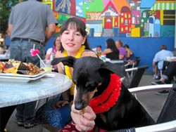 Double Wide Grill's dog patio