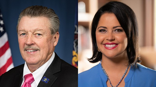 Jim Brewster and Nicole Ziccarelli - PHOTO: OFFICIAL STATE PORTRAIT/COURTESY THE CAMPAIGN