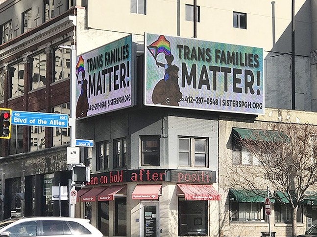 Billboard in Downtown at intersection Grant Street and Boulevard of the Allies - CP PHOTO: RYAN DETO