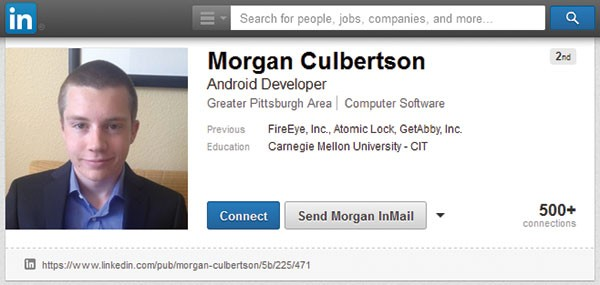 Morgan Culbertson from his LinkedIn profile