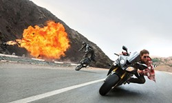 Another day at the office for Ethan Hunt (Tom Cruise)