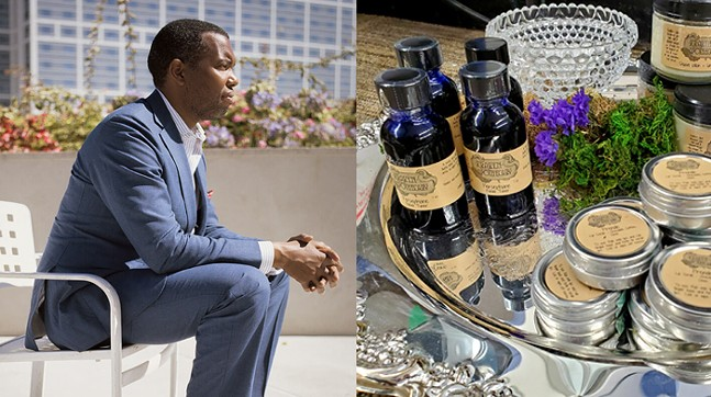 Left: Ta-Nehisi Coates, see Mon., Dec. 7  - Right: Herbal body care by Kraken Apothecary, part of Craftivist 2020, see Sat., Dec. 5 - PHOTO: GREGORY HALPERN (LEFT), KRAKEN APOTHECARY (RIGHT)