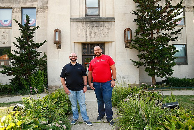 Crafton councilors Edward Alo and Anthony Saba - CP PHOTO: JARED WICKERHAM