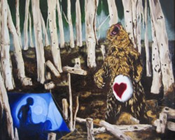 """""""Tender Hearts,"""" a painting by Shawn Beeks"""