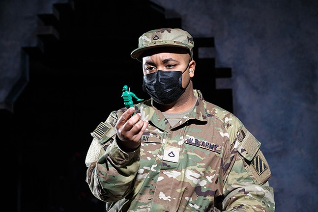 Yazid Gray in Pittsburgh Opera's Soldier Songs, see Fri., Dec. 11 - PHOTO: DAVID BACHMAN PHOTOGRAPHY