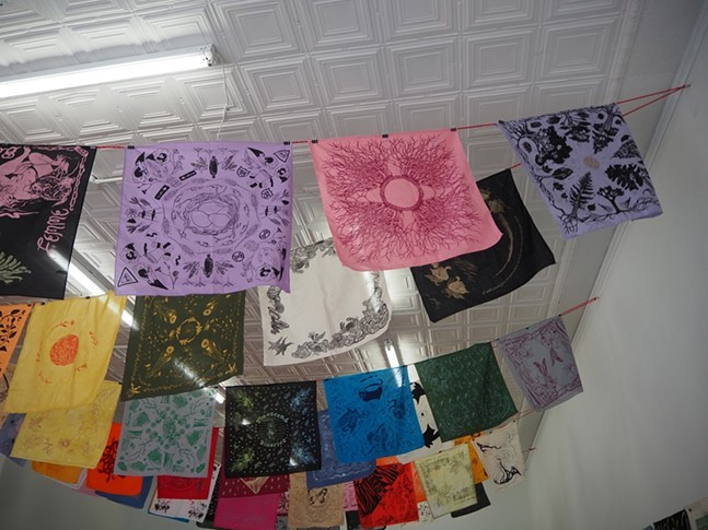 Part of the Queer Ecology Hanky Project at the Irma Freeman Center - PHOTO: MARY TREMONTE