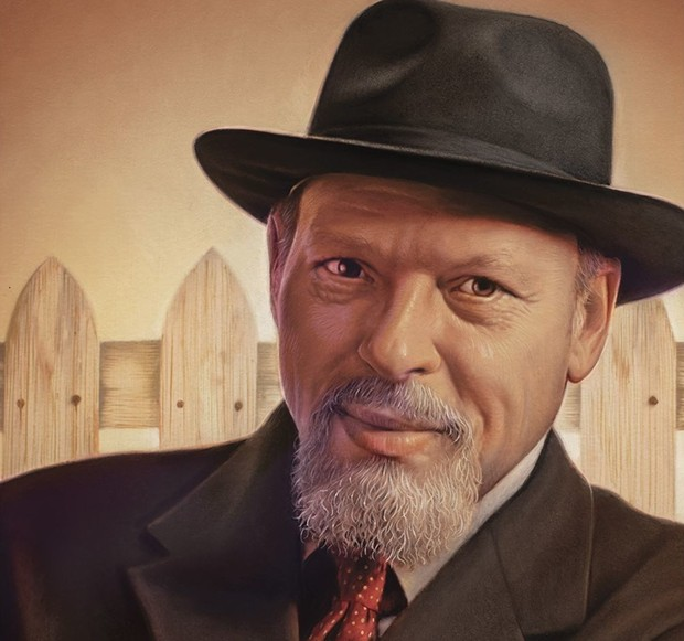 Close-up of the USPS August Wilson Forever stamp - UNITED STATES POSTAL SERVICE
