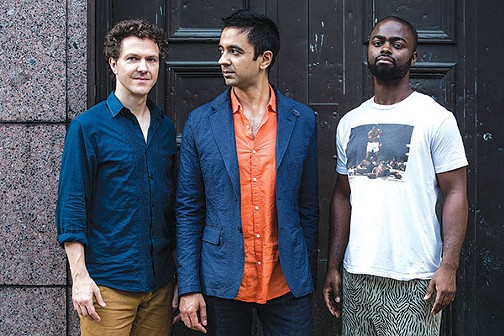 The Vijay Iyer Trio (Iyer, center) - PHOTO COURTESY OF BART BABINSKI