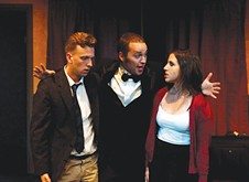 From left: Karter Schachner, Derrick Shane and Katie Trupiano in Throughline's Games of the Mind  - PHOTO COURTESY OF RICK MOORE/THROUGHLINE THEATRE