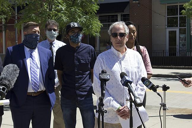 Michael Fuoco at a Pittsburgh Post-Gazette press conference in June 2020 - CP PHOTO: JULIA MARUCA