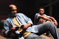 Jomo Ray (left) and Maurice Redwood in Lower Ninth, at Caravan Theatre - PHOTO COURTESY OF TERRY DANA JACHIMIAK II