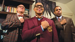 From left to right: Jeff Howell, Tru Verret-Fleming and Jason Shavers in The REP's Choir Boy - PHOTO COURTESY OF JEFF SWENSEN