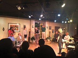 The cast of Dulcy onstage at Pittsburgh Playwrights Theatre Co. - PHOTO COURTESY OF JOY SOUTHERS
