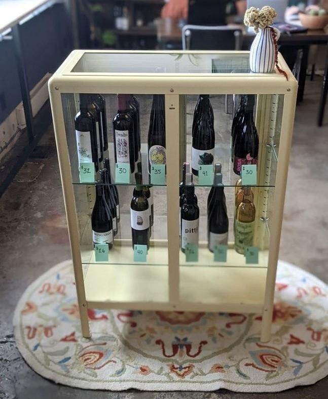 Natural wines on display at Nine O'Clock Wines - PHOTO: COURTESY OF NINE O'CLOCK WINES