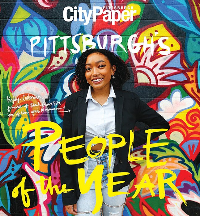 Kyley Coleman, founder of Black Owned PGH, one of this year's 10 winners - CP PHOTO: JARED WICKERHAM, LETTERING: ABBIE ADAMS