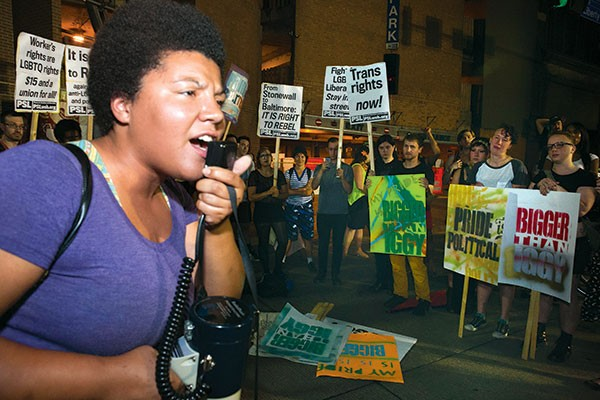 Taking it to the streets: Julia Johnson - PHOTO BY JOHN COLOMBO