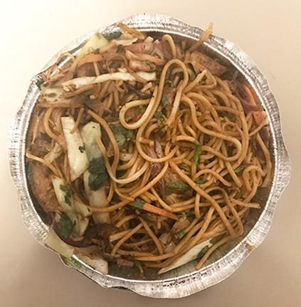 Namaste Momo Corner's chow mein - CP PHOTO: RYAN DETO