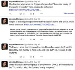 A screenshot of a Virginia Montanez tweet