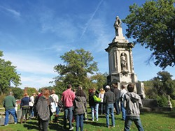 One of Allegheny Cemetery's many notable gravesites - PHOTO COURTESY OF THE CITY OF PITTSBURGH OFFICE OF PUBLIC ART