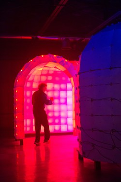 Ian Brill's Psychedelic Monster Maze - PHOTO COURTESY OF RENEE ROSENSTEEL