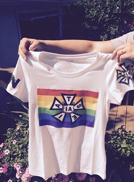 IATSE's LGBT Pride t-shirt - PHOTO COURTESY OF SHAWN FOYLE