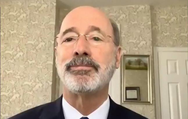 Gov. Tom Wolf during Wednesday's press conference