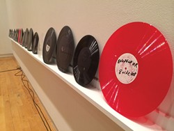 "Marina Rosenfeld's ""Turn of My Century: Dub plates and test pressings 1998-2014, 2015"" - PHOTO COURTESY OF THE MILLER GALLERY"