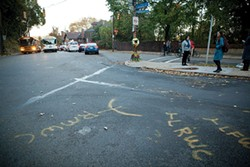 Streets are dangerous for pedestrians, as well. Two pedestrians were killed on Oct. 26 at the intersection of Allequippa Street and Centre Avenue, in Oakland. - PHOTO BY HEATHER MULL