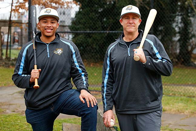 Pittsburgh Hardball Academy co-founders Nelson Cooper IV and Brian Jacobson - CP PHOTO: JARED WICKERHAM