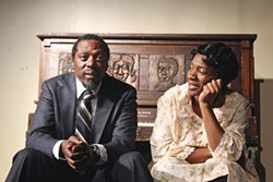 Edwin Lee Gibson and Karla Payne in The Piano Lesson, at Pittsburgh Playwrights - PHOTO COURTESY OF THE PITTSBURGH CULTURAL TRUST