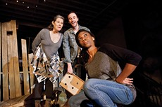 From left: Laurie Klatscher, Alec Silverblatt and Siovhan Christensen in Quantum's Chickens in the Yard - PHOTO BY HEATHER MULL
