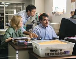 Team effort: Rachel McAdams, Mark Ruffalo and Brian d'Arcy James