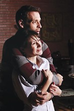Shaun Cameron Hall and Erika Cuenca in Scared of Sarah, at Off the Wall