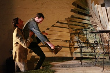 "Joseph McGranaghan (left) and Alec Silverblatt in ""Chickens in the Yard"" - PHOTO COURTESY OF HEATHER MULL"