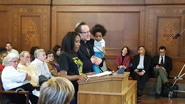 Aseia Glover testifies before Pittsburgh City Council - PHOTO BY REBECCA NUTTALL