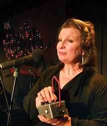Sheila McKenna in Yinz'r Scrooged, at Bricolage - PHOTO COURTESY OF TAMI DIXON
