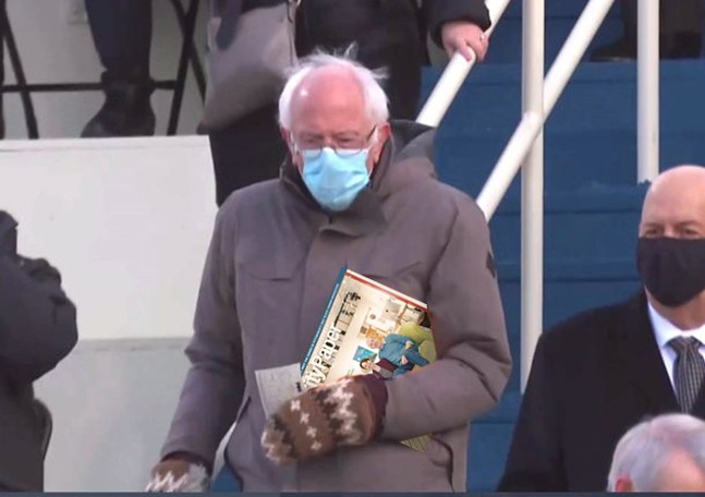 Bernie Sanders, devoted City Paper reader.