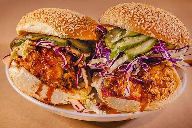 The Vandal's fried chicken sandwich dinner kit - PHOTO: BRITTANY SPINELLI