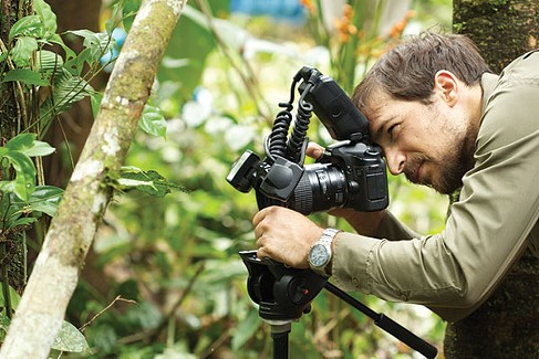 José Padial behind the camera in Peru, in 2014 - PHOTO COURTESY OF THE CARNEGIE MUSEUM OF NATURAL HISTORY