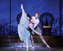 Alexandra Kochis and Lucius Kirst in Pittsburgh Ballet Theatre's La Bayadere - PHOTO COURTESY OF RICH SOFRANKO
