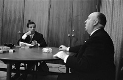 On film: Francois Truffaut and Alfred Hitchcock - PHOTO COURTESY OF PHILIPPE HALSMAN
