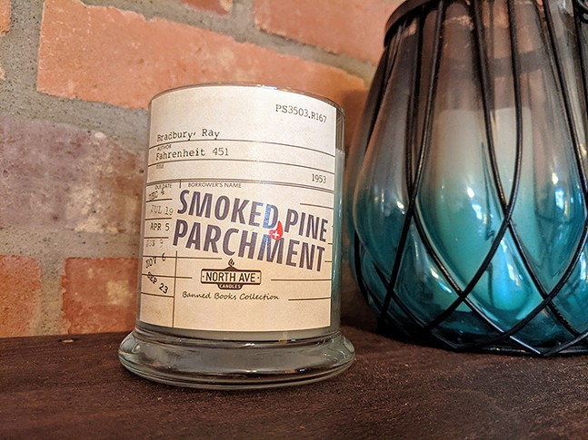 Smoked Pine & Parchment from North Ave Candles - CP PHOTO: AMANDA WALTZ