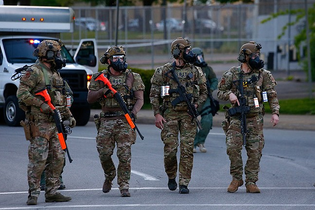 SWAT officers in East Liberty on June 1, 2020 - CP PHOTO: JARED WICKERHAM