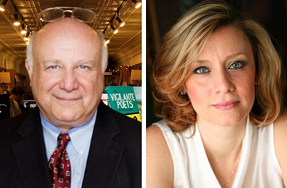 Democrats Steve Larchuk and Erin McClelland are seeking the endorsement of the Allegheny County Democratic Committee in their primary battle to see who will take on incumbent GOP Congressman Keith Rothfus
