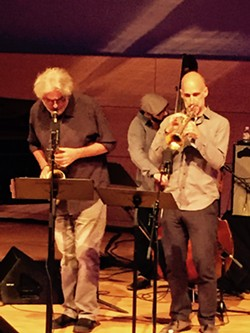 Tim Berne (saxophone), Ralph Alessi (trumpet) and John Hebert (bass) - MIKE SHANLEY