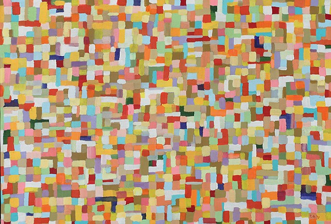 John Grillo's 1951 Untitled from Pattern Makers at The Westmoreland Museum of American Art